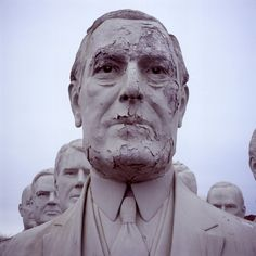 Somewhere in Virginia on the outskirts of private farmland sits the completely bizarre sight of nearly 40 giant U.S. president busts crumbling amongst the weeds. The mammoth heads—each estimated to weigh in excess of 7,000 pounds—were originally commissioned from a Houston artist as the cent