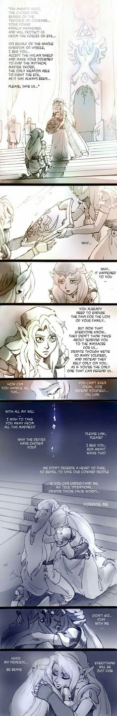 Hero's Destiny by twisted-wind on deviantART Yes, there is some spelling errors, but I cannot resist so awesome a fan art clip. The Legend Of Zelda, Elsword, Princesa Zelda, Nintendo, Link Zelda, Fan Art, Zelda Breath, Twilight Princess, Breath Of The Wild