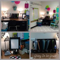 I love this room!! so many of these ideas I was planning on doing! Glitzy In 1st Grade: Classroom Decor