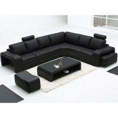 Majestic Bonded Leather Sofa w Coffee Table - Black | Buy Living Room Sets