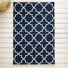 Zeia Navy Tile Rug - Rugs & Animal Skins - Wall & Floors - Home Accessories