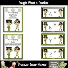 Skill: Children will practice identifying lowercase and uppercase letters by putting 2-piece puzzles back together. They will match each lowercase ...