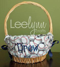 Baseballsoftball easter baskets baseballsoftball pinterest baseballs personalized easter basket liner by leelynncrafts 2600 negle Choice Image