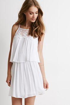 Floral-Embroidered Yoke Layered Dress, $24.90, forever21.com - Seventeen.com