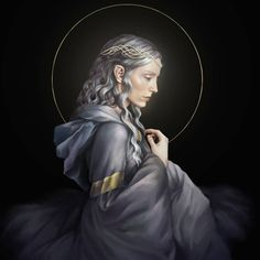 Nienna was one of the Queens of the Valar, the sister of Mandos and Irmo. Gandalf was her greatest student. Character Sketches, Character Art, Shadow Of Mordor, Dnd Races, Elder Scrolls Online, Jrr Tolkien, Gandalf, Middle Earth, Lotr