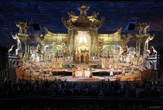 Turandot at the Arena di Verona. Production and sets by Franco Zeffirelli.---today!!!!!! Yesssssss!!!!! Ma il mio mistero e chiuso in me...