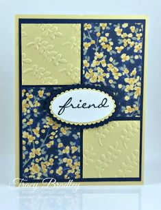 Handmade card featuring Stampin' Up! Botanical Bliss stamp set and the beautiful Garden Impressions Designer Series Paper. Created by Tracy Bradley, Independent Stampin' Up! Demonstrator www.stampingwithtracy.com