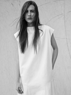 Minimal Dress with drop-waist detail; understated style // Bassike