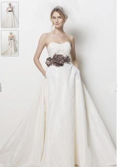 A rustic wedding gown