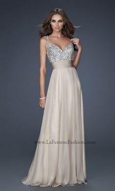 OMG OMG OMG and it comes in NUDE!!!  La Femme Dress, LF-16802, Cover of Seventeen