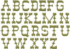 Western Embroidery Font Machine Embroidery Instant Download Johnny