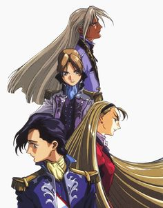 Some other Characters from Gundam Wing.  From the bottom up - Lucrezia Noin, Dorothy Catalonia, Relena Darlian (Dorlian) Peacecraft, and Zechs Merquise/Milliardo Peacecraft.