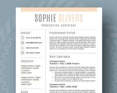 Simple Resume Template Use With Microsoft Word Update Your