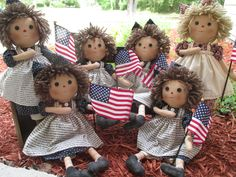My patriotic Raggedys by Cyndy Weeks