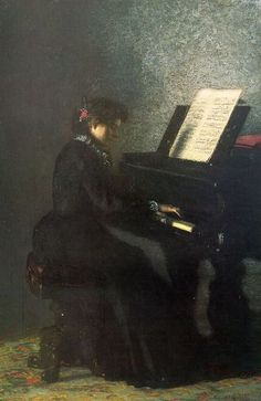 Music is the mediator between the spiritual and the sensual life  Artist: Thomas Eakins