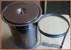 lixeira de embutir inox - 5 litros