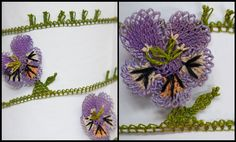 Oya igne oyasi igne oyalari bebila Excellent Univ of Wisconsin Madison website with explanation of oya and good bibliography Crochet Leaves, Crochet Doilies, Crochet Flowers, Crochet Borders, Crochet Patterns, Crochet Unique, Sewing Equipment, Types Of Lace, Alternative Bouquet