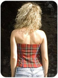 Tartan Corset, Elka, in Royal Stewart