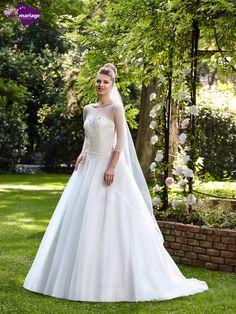 Robe de mariée Pétra, robe de mariée manches longues, robe de mariage avec large…
