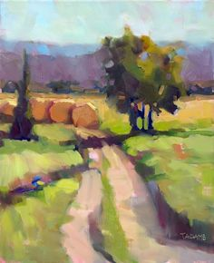 Hayrounds 20x16 oil Trisha Adams