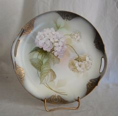 Antique Victorian Hand Painted Hydrangea by AgingBeautyBoutique