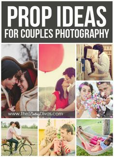 PROP IDEAS FOR COUPLES: The difference between a good picture and a great picture is in the details so don't forget to add in some fun props for that little something extra! The best props are typically the ones that help you interact together or that have a special meaning in your relationship. Choose props that really personalise the picture!