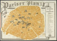 A tourist map of occupied Paris issued to German soldiers during World War II