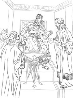 BIBLE COLORING PAGES. King Josiah - Cut the Ropes of Sin ...