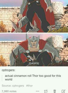 "When I see this, all I think about is Thor calling Rocket ""sweet rabbit"" - Marvel Universe The Avengers, Avengers Memes, Marvel Memes, Marvel Dc Comics, Marvel Universe, Disney Shirts, Chibi, Loki Thor, Thor Marvel"