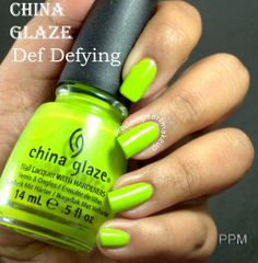 China Glaze Def Defying - used once - the cap has a dent at the bottom $3