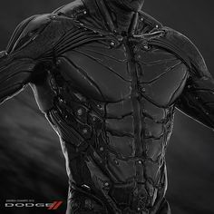 """Client: MindoverEye / DODGE (FCA) Role: Concept Designer Concept design for commercials of the Dodge DEMON car. The goal was to design a robotic-humanoid """"Alter Ego"""" of the DEMON car. Muscle: mechanical parts Skin: asphalt/cold lava material Robot Concept Art, Armor Concept, Weapon Concept Art, Superhero Design, Robot Design, Suit Of Armor, Body Armor, Mode Cyberpunk, Armadura Cosplay"""