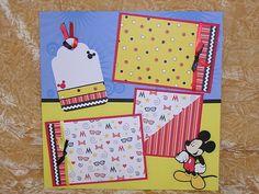 Premade Scrapbook Page Set Disney Vacation Memories | eBay