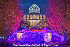 Did you go to the Lewis Ginter Botanical Gardens to see the Festival of Lights in December? #GardenFestofLights #Richmond #Virgina