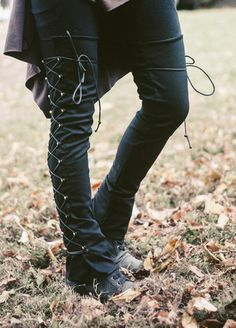 Huntress speed lace leg warmers. Want these!