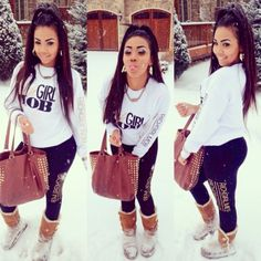 Look at other great ideas about Styles clothes, Swag attire and Girl fashion. Swag Style, Style Casual, Dope Style, Dope Fashion, Fashion Killa, Urban Fashion, Teen Fashion, College Fashion, Fashion Women