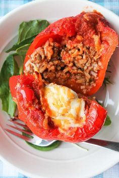 Easy Beef and Rice Stuffed Peppers - Simple & Savoury