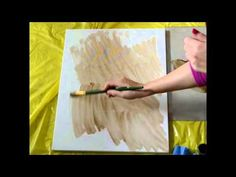 lezioni di pittura ad olio : imprimatura della tela - creazione di un colore di fondo.   Video di Paola Alì su Youtube