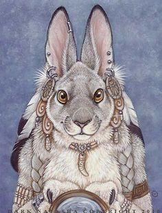 Winter Solstice by darknatasha - furry Illustrations, Illustration Art, Rabbit Art, Alice Rabbit, Spirited Art, Bunny Art, Animal Totems, Winter Solstice, Fantasy Creatures