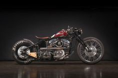 S&S Shovelhead Bobber Sub Zero by Gasolina #motorcycles #bobber #motos | caferacerpasion.com