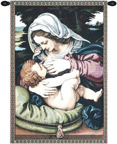 Madonna del Cuscino Tapestry Wall Art Hanging
