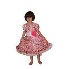 Платье пышное с цветочным принтом