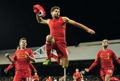 FOTOGRAFÍA DIARIO MARCA: Símbolo del club, Gerrard desprendía la misma fuerza en sus celebraciones que en su juego dentor de un terreno de juego.