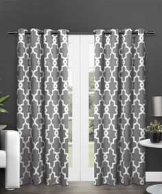 Another great find on #zulily! Black Pearl Ironwork Blackout Thermal Curtain Panel - Set of Two #zulilyfinds