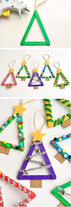 54 Simple and cheap Christmas decoration! – Decoration of … - Christmas Decorations Cheap Christmas, Christmas Crafts For Kids, Christmas Printables, Christmas Decorations To Make, Simple Christmas, Kids Christmas, Holiday Crafts, Christmas Ornaments, Christmas Trees