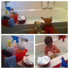 Play Create Explore: Themed Bath Thursday's I love this idea and all her ideas! Her blog is amazing! Lahla would LOVE this!