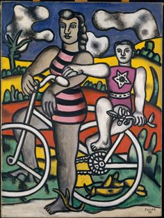 Joseph Fernand Henri Léger(1881-1955), the bicyclist, 1951. oil on canvas, 130.8 x 97.8 cm. the metropolitan museum of art, new york, usa  http://metmuseum.org/collections/search-the-collections/210007054