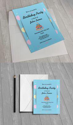 Birthday Party Invitation                                                       …