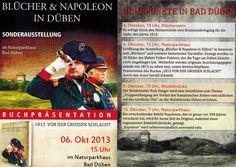 """Ausstellung """"Blücher und Napoleon in Düben"""" (ab 6.10.2013) http://www.naturpark-duebener-heide.com/dh/deutsch/bilder/napoleon_2013.jpg"""