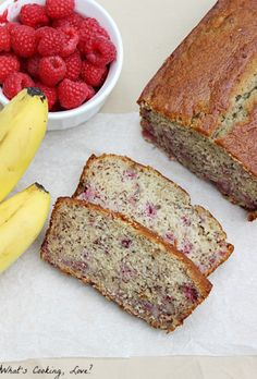 Raspberry Banana Bread - Whats Cooking Love?