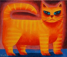 graham knuttel cat (vibrant)